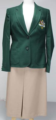 Australian rowing team uniform worn by Margot Foster at the 1985 World Rowing Championship
