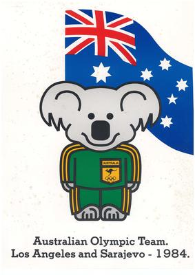 Poster with 'Willy the Koala', 1984 Los Angeles Olympic Games