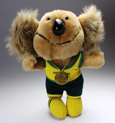 'Willy the Koala' mascot plush, 1984 Los Angeles Olympic Games.