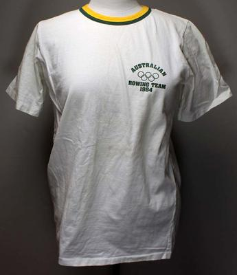 Australian rowing team t-shirt, Los Angeles Olympic Games 1984; Clothing or accessories; 2017.11.30