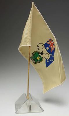 Flag featuring Willy the Koala,  Los Angeles Olympic Games 1984