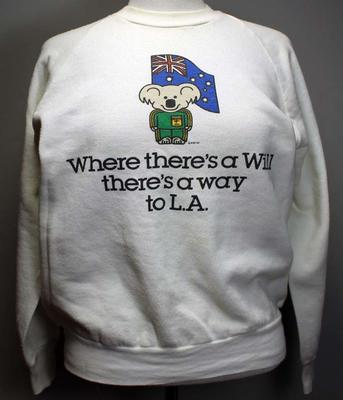 Windcheater featuring Willy the Koala mascot, Los Angeles Olympic Games, 1984