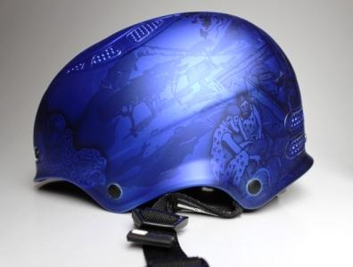 Helmet worn by snowboarder Scotty James at the 2018 Winter Olympic Games.