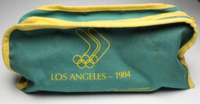 Australian Olympic team toiletries bag, issued to Margot Foster, Los Angeles 1984.