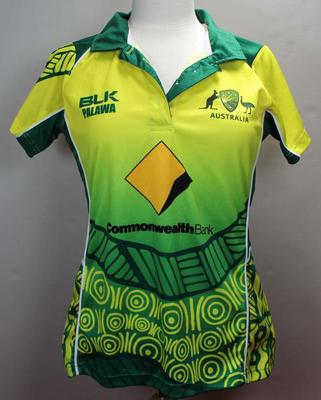 Aboriginal XI shirt worn by Emma Manix-Geeves during the 2018 tour of England