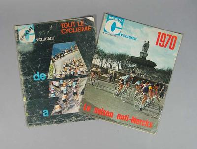 Two French cycling magazines, 'Miroir du Cyclisme' - April 1969 and February 1970