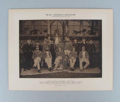 Black and white photograph - The M.C.C. Australian XI, Sheffield Park 1886; Photography; M46