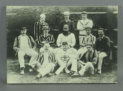 Copy photograph of Gentlemen of England cricket team, 1884