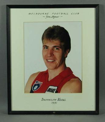 Photograph of Jim Stynes, Brownlow Medal 1991