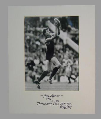Photograph of Jim Stynes, Truscott Cup 1991 - 1995 - 1996 - 1997