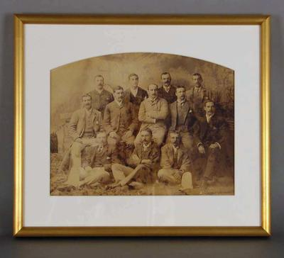 Sepia photograph of the English XI, Season 1887-88