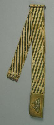Belt, used by cricketer James Tinsley c1870s