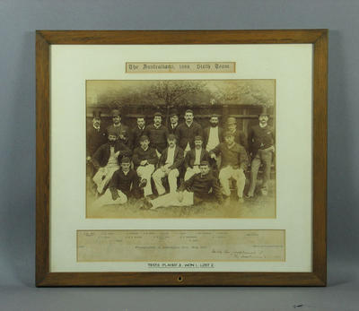 Sepia photograph - The Australians, 1888. Sixth Team - England