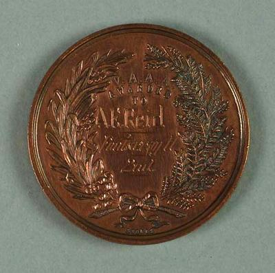 Medal - 2nd Place, 5 Miles Walking Championship of Victoria 1939