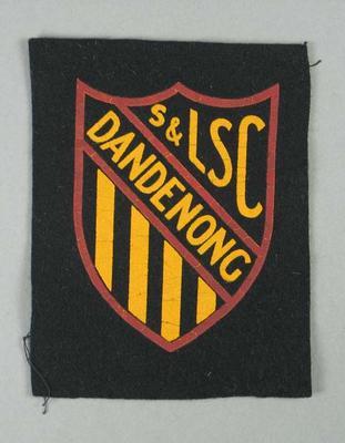 Cloth badge, Dandenong Surf & Life Saving Club