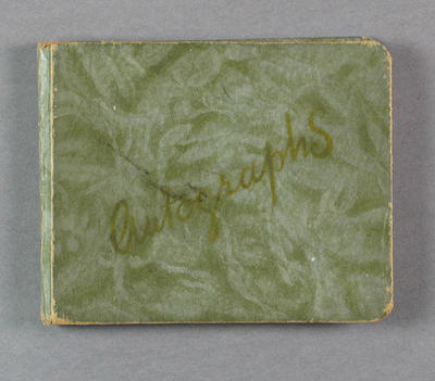 Autograph book, signed by various cricketers c1930s
