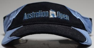 Visor worn by Barry Minster at the 2007 Australian Open; Sporting equipment; N2018.17.14