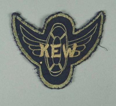 Cloth badge, Kew Swimming Club