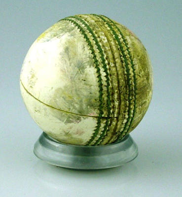 Cricket ball used at the MCG during Day/Night Benson & Hedges World Series Cup match Australia v England 10 January 1991