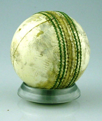 Cricket ball used at the MCG - Benson & Hedges Final Australia v New Zealand 15 January 1991