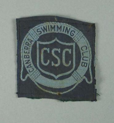 Cloth badge, Canberra Swimming Club