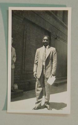 Black and white photograph of West Indian Cricketer Frank Worrell.