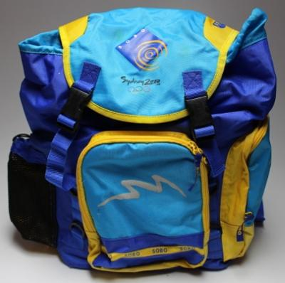 Sydney 2000 Olympic Games Sydney Olympic Broadcasting Organisation (SOBO) branded backpack.