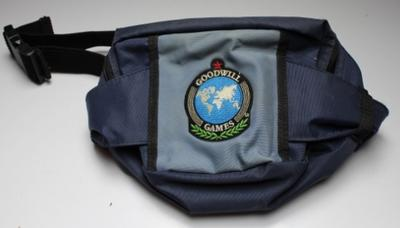 Brisbane 2001 Goodwill Games bum-bag, issued to broadcasters.