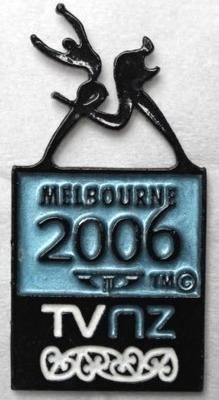 TV NZ pin produced for the Melbourne 2006 Commonwealth Games
