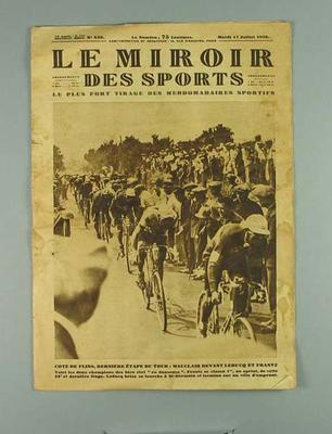Magazine - Le Mirroir des Sports, Nouvelle Serie No 439 - 17 July 1923