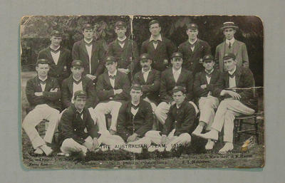 Postcard, 1912 Australian XI