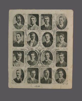 Fixture card, 1909 Australian XI tour to England