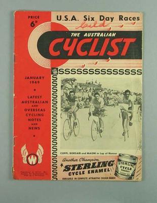 Magazine - 'The Australian Cyclist', January 1949, Six Day Race USA