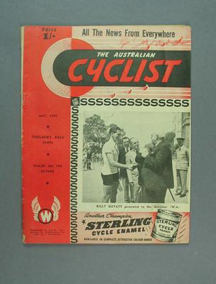 Magazine - 'The Australian Cyclist', May 1949, cover Billy Guyatt