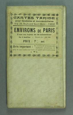 Map - Environs de Paris, Cartes Taride pour Cyclistes et Automobilistes
