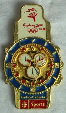 Radio-Canada Sports pin produced for the Sydney 2000 Olympic Games