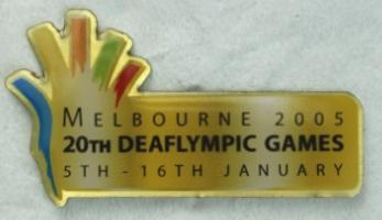 Melbourne 2005 Deaflympic Games collector pin