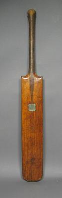 Cricket bat presented to James Horan, Prince of Wales Club Highest Batting Average 1865-66