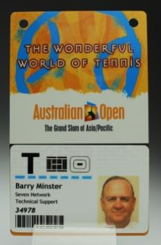 Security pass issued to Barry Minster for the 2007 Australian Open