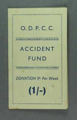 Booklet - Oakleigh District Professional Cycling Club Accident Fund