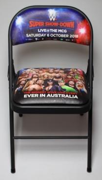 WWE Super Show-Down folding chair.
