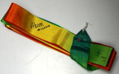 Ribbon used by Alexandra Kiroi-Bogatyreva, 2018 Commonwealth Games