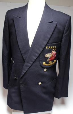 Canberra football team blazer worn by Alan Ray, July 1958.