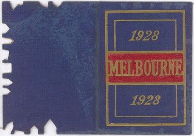 Melbourne Football Club membership card, 1928