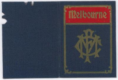 Melbourne Football Club membership card, 1951