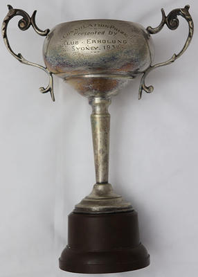 Consolation prize trophy awarded by Club Erholung, 1937