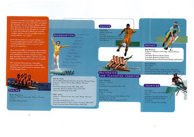 Promotional pamphlet produced by the Australian Physiotherapy Association, 1996