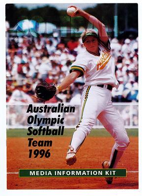 Media information kit, Australian Olympic Softball team 1996; Documents and books; 2019.1.6