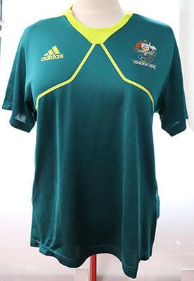 London 2012 Australian Olympic team general uniform t-shirt, worn by Wendy Braybon