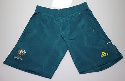 London 2012 Australian Olympic team general uniform shorts, worn by Wendy Braybon